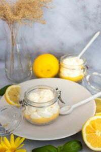 Lemon curd chantilly