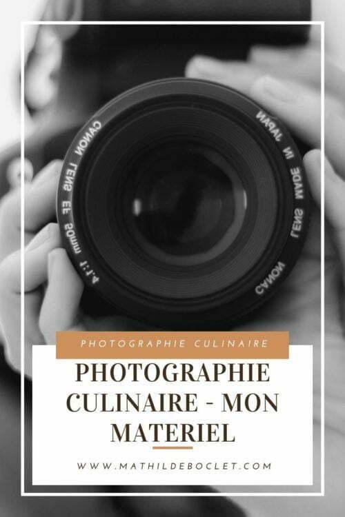 Matériel photo culinaire